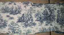 Valance FRENCH TOILE COUNTRY BLUE FABRIC 54 x 8.25 in