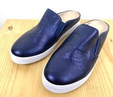 Vionic Splendid Dakota Mules Size US 8 Metallic Navy Blue Slip On Loafers Comfor