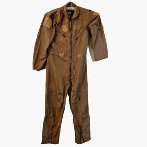 Genuine USAF Nomex Flight Suit CWU-27/P Desert Tan Flyers Coveralls Size 42L
