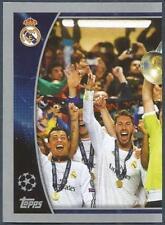 TOPPS CHAMPIONS LEAGUE-2015-16 #611-REAL MADRID 2013-14 WINNERS-LEFT HALF