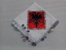 new Albania eagle white handkerchief-dancing handkerchief-37.5 x 36 cm-awesome