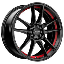 4-NEW Ruff R364 18x8 5x100/5x114.3 +38mm Black/Red Wheels Rims