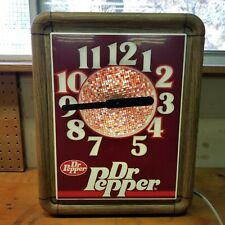Dr Pepper Collection Light Up Clock Howard 1985 Vtg Rare Lighted Spinning Colors