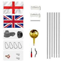 More details for 20ft segmented design commercial flagpole kit aluminium 2 flag pole +rope