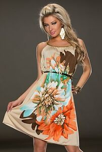 FASHION STYLE BELT AND FLOWER PRINT DRESSES