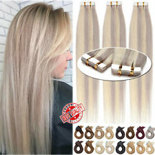 Extra Thick Seamless Tape In 100% Remy Human Hair Extensions Skin Weft Full Head