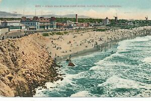 SAN FRANCISCO CA - Ocean Beach from Cliff House - 1910