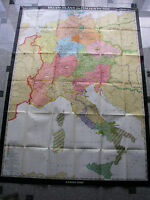 D+I 911-1125 155x215cm 1969 vintage old germany wall map card B 挂图德国 JA ドイツの壁マップ