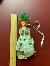 Unbranded 9 Inch Vintage Irish Doll With Clover Dress