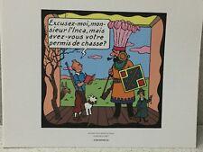 Tintin Extrait Planche Le Temple du Soleil #2 - Hergé Moulinsart / 24 x 20 cm
