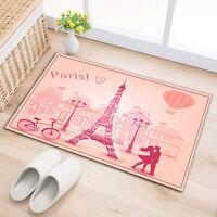 """Paris Lover 15X23"""" Kitchen Bathroom Shower Door Floor Non-Slip Bath Mat Rug 2540"""