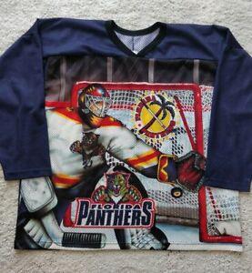 CCM Vintage USA FLORIDA PANTHERS Team NHL Mesh Mens Hockey Jersey Shirt Logo Big