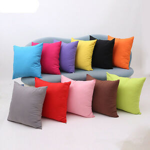 "Plain Dyed Cushion Cover 18"" x 18"" Percale 100% Cotton Cushion Covers"