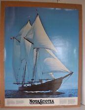 Poster Novascotia Ship Blue Nose II Boat Sailboat