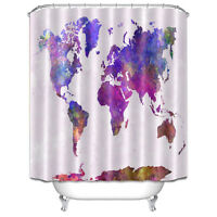 World map design bathroom waterproof fabric shower curtain 72 inch world map fabric waterproof bathroom shower curtain with 12 hooks 1406 gumiabroncs Images