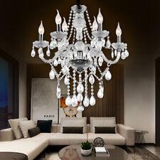 Araña de Cristal Plata 6-armig Cuimbra Lámpara Corona Transparente Hall Salón