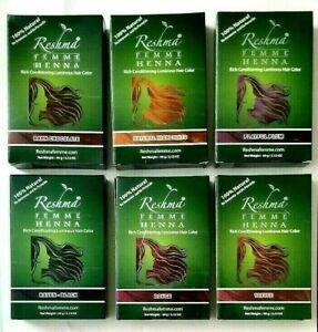 Reshma FEMME HENNA Rich Conditioning Luminous Hair Color 2.12 oz PICK YOUR COLOR