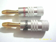 50pcs Nakamichi Speaker Audio 4mm Banana Plug Screw Cable adapter 24k Gold