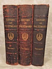 Baltimore Its History and Its People  Ed by C Hall 3 Volumes 1st Edition 1912
