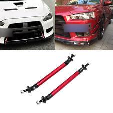 Universal Adjustable Front Rear Bumper Lip Splitter Strut Brace Rod Support Bar