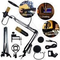 BM800 Pro Microphone Mic Kit Broadcasting Studio Recording Condenser