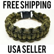 550 Paracord Bracelet Olive Drab Green (Survival, Military, Tactical)Custom Size