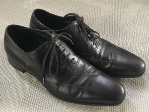 Gucci Brown Leather Lace Up Dress Shoes US Men's 7.5