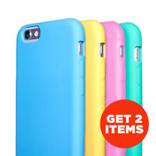 Pastel Matte Silicone Case Gel Fitted Skin Cover for Samsung Galaxy S5 / Note 4