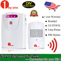 1byone Wireless Driveway Alert Alarm System Infrared Motion Sensor Security 100M