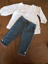 6 month girls clothes Giraffe print gray leggings Shirt pants outfit by Carter's