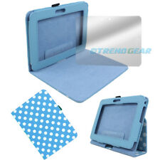 """CASE COVER+SCREEN PROTECTOR SLIM POUCH FLIP PU BLUE DOT AMAZON KINDLE FIRE HD 7"""""""