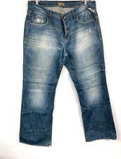 Jack Jones vintage denim men's jeans Gate Style Made In Italy 38x34 Distressed