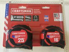 CRAFTSMAN PRO-11 2-Pack 16-ft; 25-ft Auto Lock Tape Measure