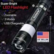 SUPER BRIGHT 900000LM 70W LED Flashlight Tactical Torch T6 w/3000 Amh Battery