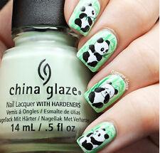 Pandas Banboo Water Transfers Nail Art Sticker Decals UV Acrylic Tips Decoration