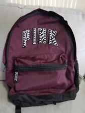 Victorias Secret PINK Campus Backpack Black Orchid Stud Bling 2018 Burgundy NIP