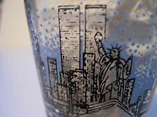 Vintage TWIN TOWERS New York Skyline Shot Glass Empire State Liberty Original