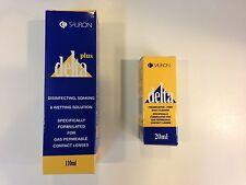 Sauflon Delta 100ml soaking disinfecting wetting plus 20ml cleaner for RGP lens