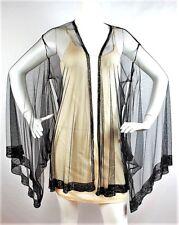 Agent Provocateur Di-Di Black Beaded Tulle Kimono Robe Size S / M
