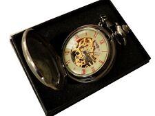 Reloj de bolsillo cuerda manual ,( 740 ),Mecánico Reloj,TAPA CON LUPA,CADENA Y