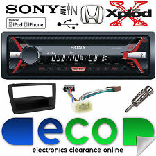 Honda Civic EP2 00-06 CDX-G1100U CD MP3 USB AUX en auto estéreo kit de montaje Negro