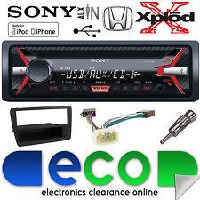 HONDA Civic ep2 00-06 cdx-g1100u CD mp3 USB Aux In Autoradio Nero Kit di montaggio