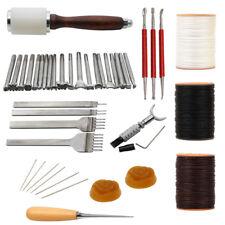 Leathercraft Saddle Making Hammer Swivel Knife  Waxed Thread Needles Prong Kit