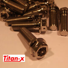 Titanium bolt, dual drive M10x30 Drilled