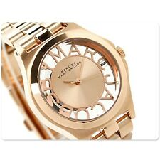 NWT Marc Jacobs Women's Watch Small Rose Gold Skeleton SS HENRY MBM3293 $250