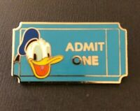 🎫 Limited Release Disney Theater Ticket - Donald Duck - Admit One Pin