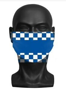 Adult Face Mask (BLUE & WHITE)