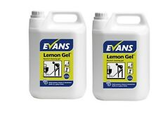 2 X 5 Ltr Evans Vanodine Lemon Cleaning GEL Jel Neutral Floor Wall Hard Surfaces