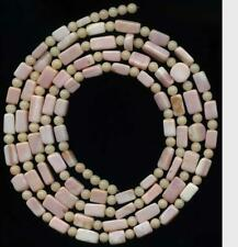 "BEADS Pink CONCH Shell 4mm Rounds Rectangles  39"" Tucson Gem Show 2020"