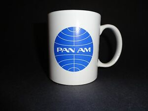 Pan Am Coffee Cup Mug Vintage Logo American A&P Jet Pilot Aircraft Airways Plane